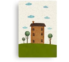 House in the сlouds Canvas Print