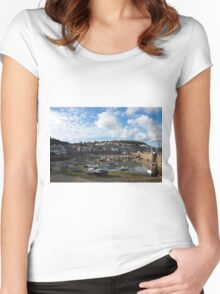 Mousehole Harbour Women's Fitted Scoop T-Shirt