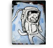 exploring the depths of outer space for the elusive galactic catnip Canvas Print