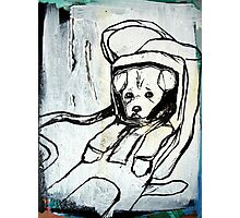 intergalactic space pup Photographic Print