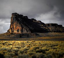 Fort Rock Glow by Charles & Patricia   Harkins ~ Picture Oregon