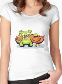 mmmmm chicken Women's Fitted Scoop T-Shirt