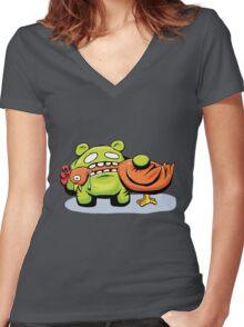 mmmmm chicken Women's Fitted V-Neck T-Shirt