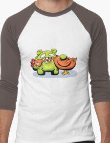 mmmmm chicken Men's Baseball ¾ T-Shirt