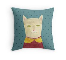Dreaming cat Throw Pillow