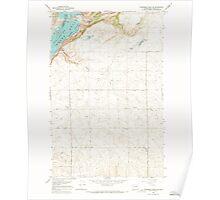 USGS Topo Map Washington State WA Steamboat Rock SE 244014 1968 24000 Poster
