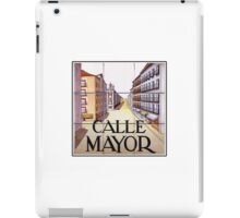 Calle Mayor, Madrid Street Sign, Spain iPad Case/Skin