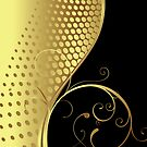 Black And Gold Elegant Swirls Design by artonwear