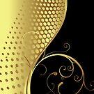 Black And Gold Elegant Swirls Design by artonwear