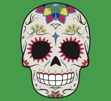 Sugar Skull CMYK ~ Sticker Kids Clothes