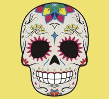 Sugar Skull CMYK ~ Sticker Baby Tee
