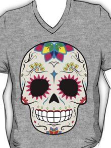 Sugar Skull CMYK ~ Sticker T-Shirt
