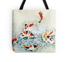 Koi carp (Nishikigo) (Chinese brush art) Tote Bag