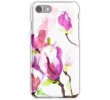 Magnolia Branch with Flowers iPhone Case/Skin