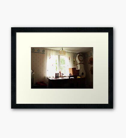 The white office Framed Print