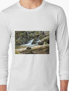 The fungus, the log and the waterfall Long Sleeve T-Shirt