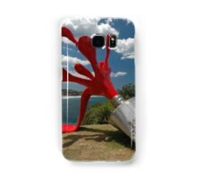 Red Paint Tube @ Sculptures By The Sea Samsung Galaxy Case/Skin