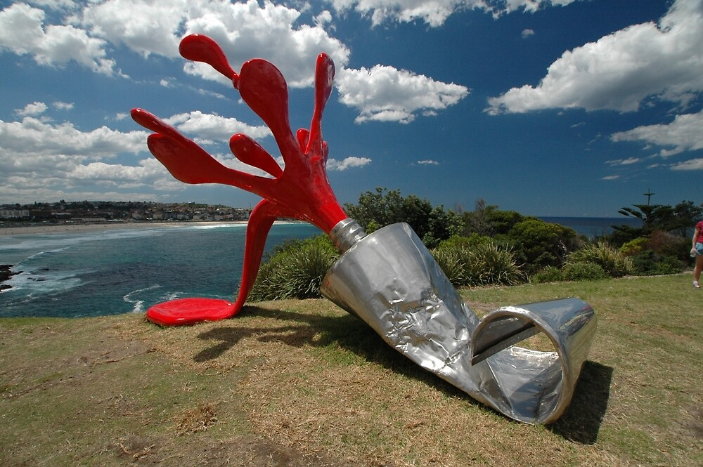 Red Paint Tube @ Sculptures By The Sea by muz2142