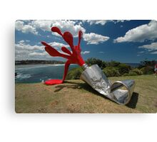 Red Paint Tube @ Sculptures By The Sea Canvas Print