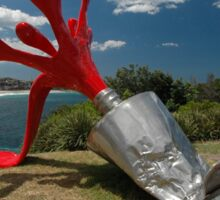 Red Paint Tube @ Sculptures By The Sea Sticker