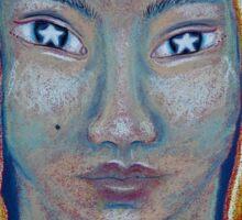 Light Portrait-Star Gazer Sticker