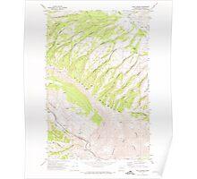 USGS Topo Map Washington State WA Milk Canyon 242334 1971 24000 Poster