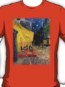 The Cafe Terrace on the Place du Forum, Arles, at Night,  Vincent van Gogh T-Shirt
