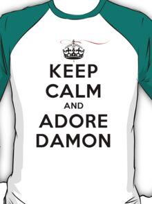 Keep Calm and Adore Damon From Vampire Diaries LS T-Shirt
