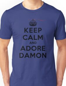 Keep Calm and Adore Damon From Vampire Diaries LS Unisex T-Shirt