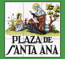 Plaza de Santa Ana, Madrid Street Sign, Spain Kids Tee