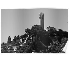 Coit Tower atop Telegraph Hill Poster