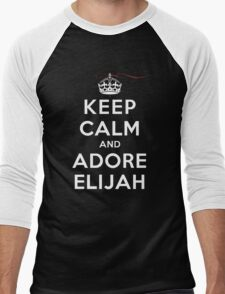 Keep Calm and Adore Elijah From Vampire Diaries DS Men's Baseball ¾ T-Shirt