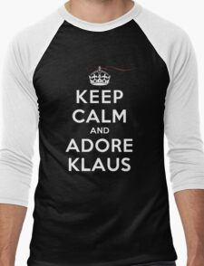 Keep Calm and Adore Klaus From Vampire Diaries DS Men's Baseball ¾ T-Shirt