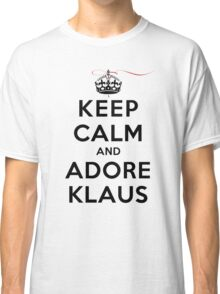 Keep Calm and Adore Klaus From Vampire Diaries LS Classic T-Shirt