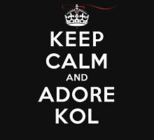 Keep Calm and Adore Kol From Vampire Diaries DS Womens Fitted T-Shirt