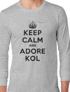 Keep Calm and Adore Kol From Vampire Diaries LS Long Sleeve T-Shirt