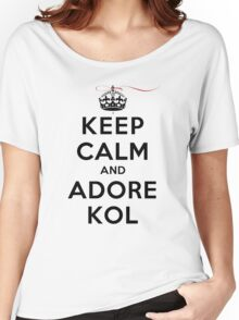 Keep Calm and Adore Kol From Vampire Diaries LS Women's Relaxed Fit T-Shirt