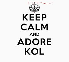 Keep Calm and Adore Kol From Vampire Diaries LS Womens Fitted T-Shirt