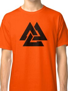 valknut tribal cool tattoo design Classic T-Shirt