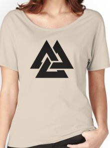 valknut tribal cool tattoo design Women's Relaxed Fit T-Shirt