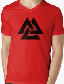 valknut tribal cool tattoo design Mens V-Neck T-Shirt