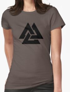 valknut tribal cool tattoo design Womens Fitted T-Shirt