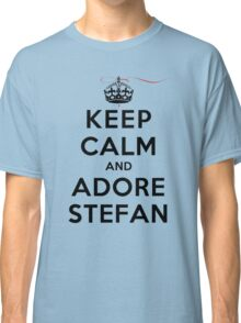 Keep Calm and Adore Stefan From Vampire Diaries LS Classic T-Shirt