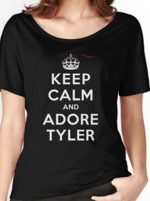 Keep Calm and Adore Tyler From Vampire Diaries DS Women's Relaxed Fit T-Shirt