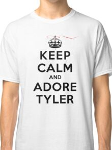 Keep Calm and Adore Tyler From Vampire Diaries LS Classic T-Shirt