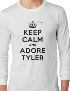 Keep Calm and Adore Tyler From Vampire Diaries LS Long Sleeve T-Shirt