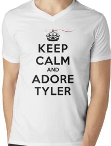 Keep Calm and Adore Tyler From Vampire Diaries LS Mens V-Neck T-Shirt