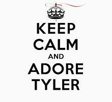 Keep Calm and Adore Tyler From Vampire Diaries LS Womens Fitted T-Shirt