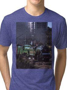 Flying Scotsman & 3801 @ Parramatta 1989 Tri-blend T-Shirt