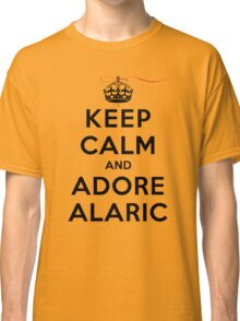 Keep Calm and Adore Alaric From Vampire Diaries LS Classic T-Shirt